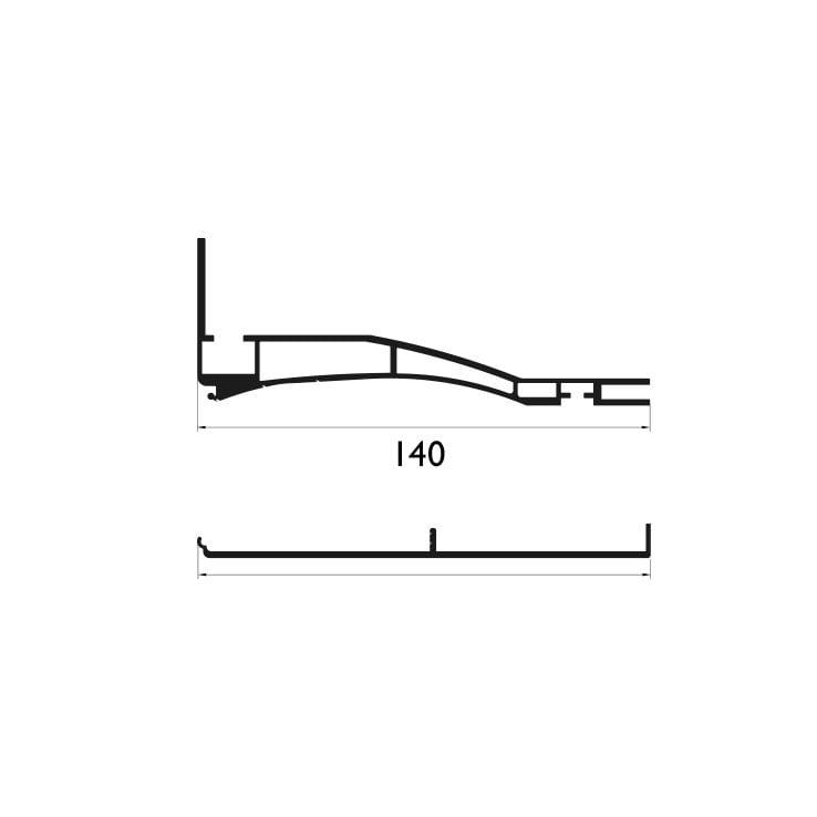 140 mm Tek Taraflı Profil Çizim