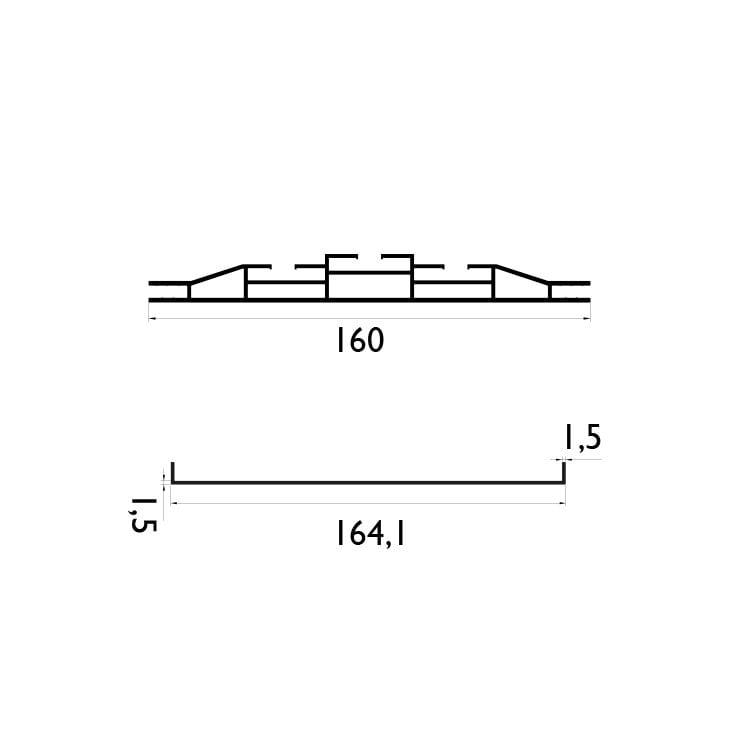 160 mm Çift Taraflı Profil Çizim