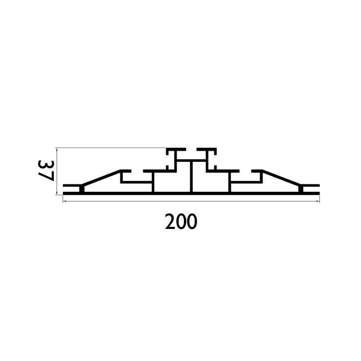 200 mm Çift Taraflı Profil Çizim