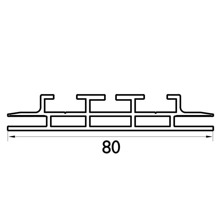 120 mm Çift Taraflı Profil Çizim